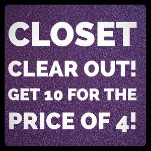10 Items For The Price of 4! Super Closet Closeout
